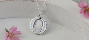 Memorial Fingerprint Round Necklace