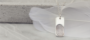 Memorial Fingerprint Tag Necklace