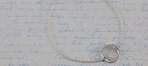 Memorial Round Fingerprint Bracelet