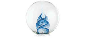 Blue The Memorial Paperweight