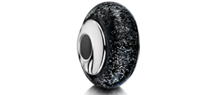 Black Charm Bead – White Gold