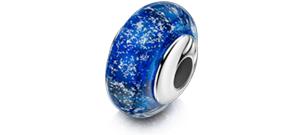 Blue Charm Bead – Silver