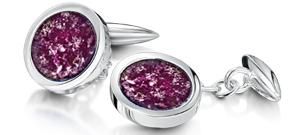 Purple Cufflinks  – White Gold