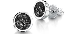 Black Earrings – Silver