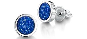 Blue Earrings – Silver