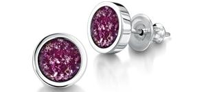 Purple Earrings – Silver