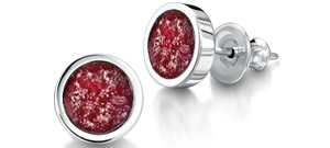 Ruby Earrings – Silver